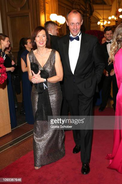 Friedrich Merz and Charlotte Merz during the 14th Semper Opera Ball 2019 at Semperoper on February 1 2019 in Dresden Germany