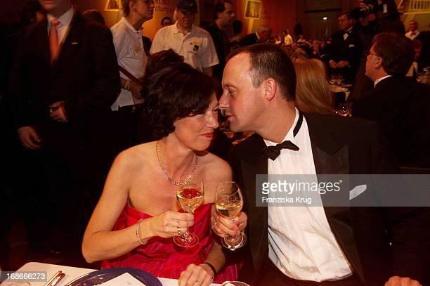 Friedrich Merz and wife Charlotte In 'Ball Des Sports in Frankfurt Am 020202
