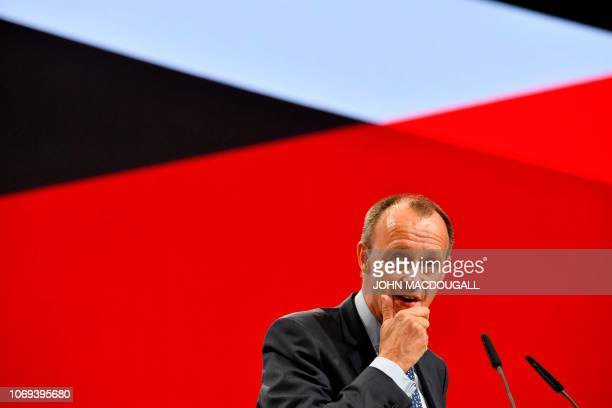Friedrich Merz one of the top candidates for the Germany's conservative Christian Democratic Union party's leadership and former CDU parliamentary...