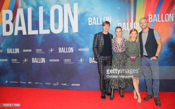 Friedrich Muecke Alicia von Rittberg Karoline Schuch and David Cross the main cast of the movie attend the 'Ballon' premiere at Zoo Palast on...