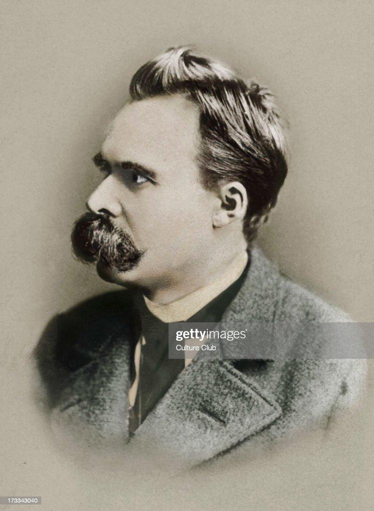 Friedrich Nietzsche - portrait. German philosopher 1844-1900.