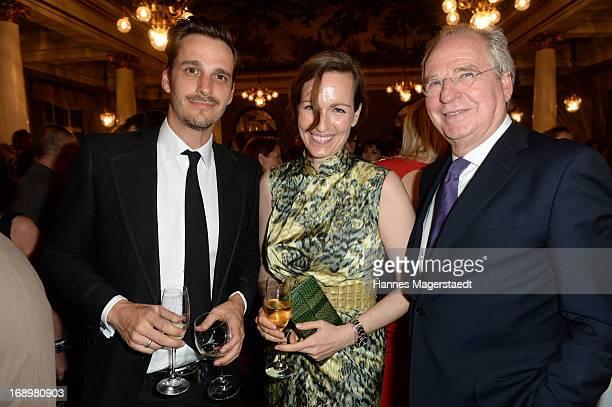 Friedrich von Thun and his children Gioia von Thun and Max von Thun attend the 'Bayerischer Fernsehpreis 2013' at Prinzregententheater on May 17 2013...