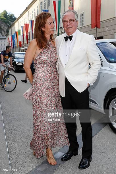Friedrich von Thun and his daughter Gioia von Thun attend the premiere of the opera 'Cosi Fan Tutte' on July 29, 2016 in Salzburg, Austria.