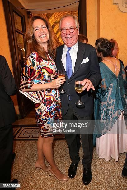 Friedrich von Thun and his daughter Gioia von Thun during the Bayerischer Fernsehpreis 2016 at Prinzregententheater on June 3 2016 in Munich Germany