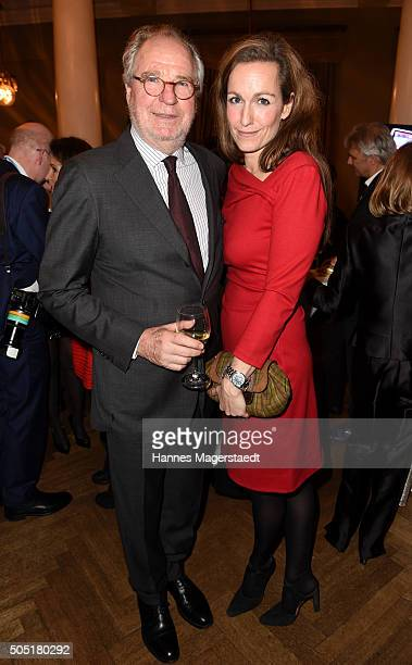 Friedrich von Thun and his daughter Gioia von Thun during the Bavarian Film Award 2016 show at Prinzregententheater on January 15 2016 in Munich...