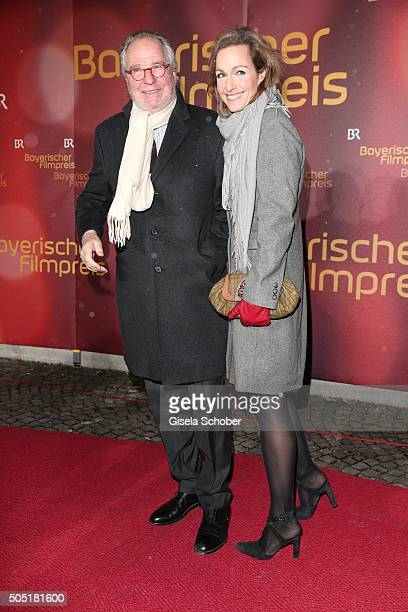 Friedrich von Thun and his daughter Gioia von Thun during the Bavarian Film Award 2016 at Prinzregententheater on January 15 2016 in Munich Germany