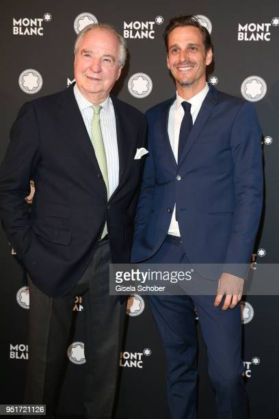 Friedrich von Thun and his son Max von Thun during the 27th Montblanc de la Culture Arts Patronage Award at Residenz on April 26 2018 in Munich...