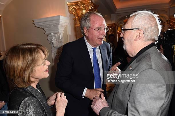 Friedrich von Thun Cornelia Froboess and Hellmuth Matiasek attend the Peter Kraus 75th Birthday party at Suedtiroler Stuben on March 18 2014 in...