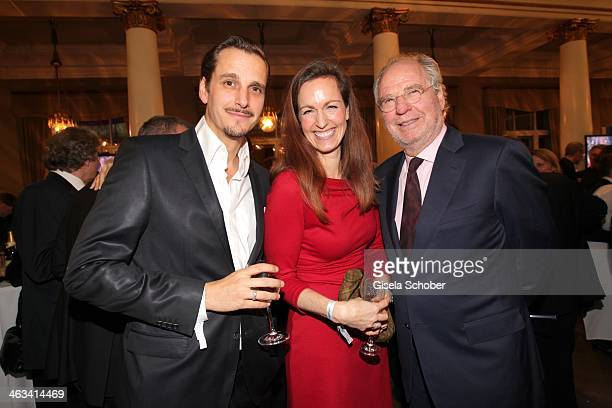 Friedrich von Thun with daughter Gioia and son Max von Thun attend the Bavarian Film Award 2014 at Prinzregententheater on January 17, 2014 in...