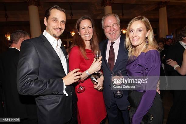 Friedrich von Thun with daughter Gioia and son Max von Thun, Christine Hartmann attend the Bavarian Film Award 2014 at Prinzregententheater on...
