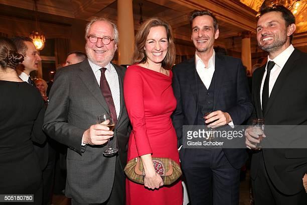 Friedrich von Thun with his daughter Gioia von Thun and son Max von Thun and Simon Verhoeven during the Bavarian Film Award 2016 at...