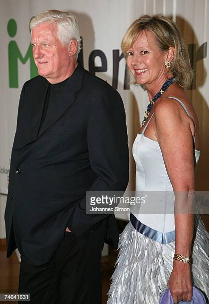 Friedrick Christian 'Mick' Flick and Charlotte von Bismarck arrive for the Mentor charity event 'Royal Dinner At a Royal Table' for the German Mentor...