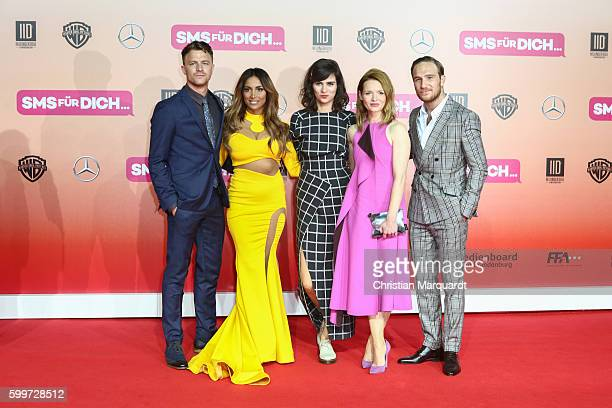 Friedrick Muecke, Enissa Amani, Nora Tschirner, Karoline Herfurth and Frederick Lau - The Cast of the Film - attend the German premiere of the film...