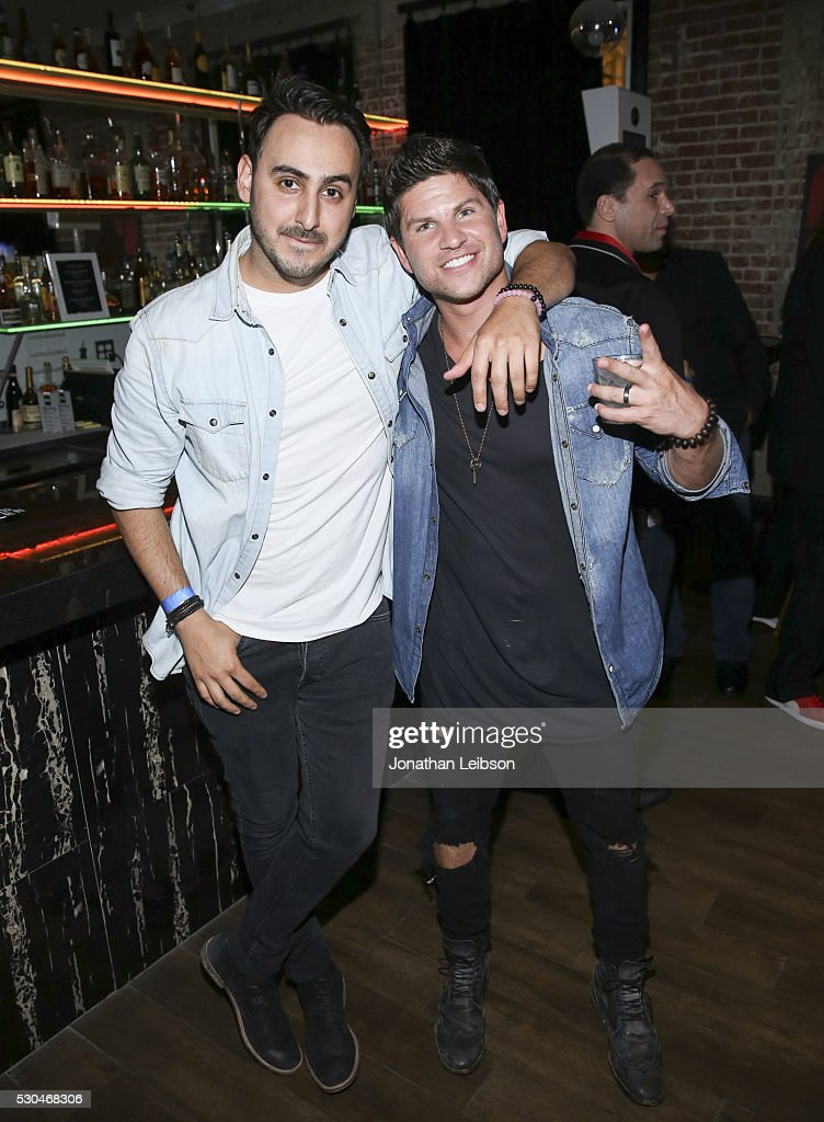 Friend (L) and Daniel Bucco attend the '6 Bullets To Hell' Mobile Game Launch Party on May 10, 2016 in Los Angeles, California.