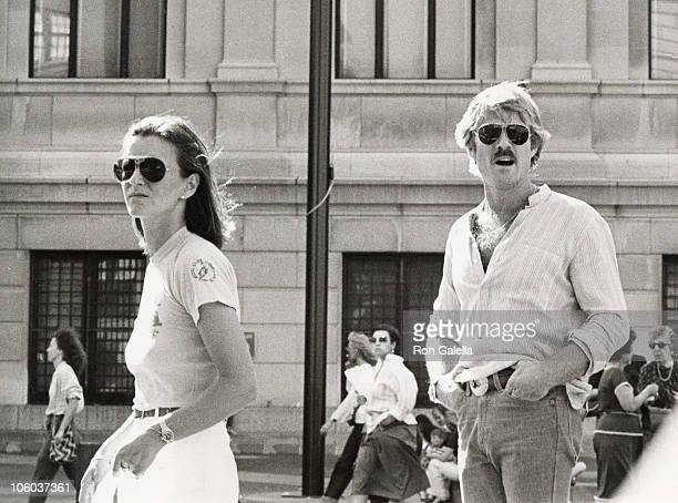 friend and Robert Redford during Robert Redford Sighted on Fifth Avenue June 10 1978 at Fifth Avenue in New York City New York United States