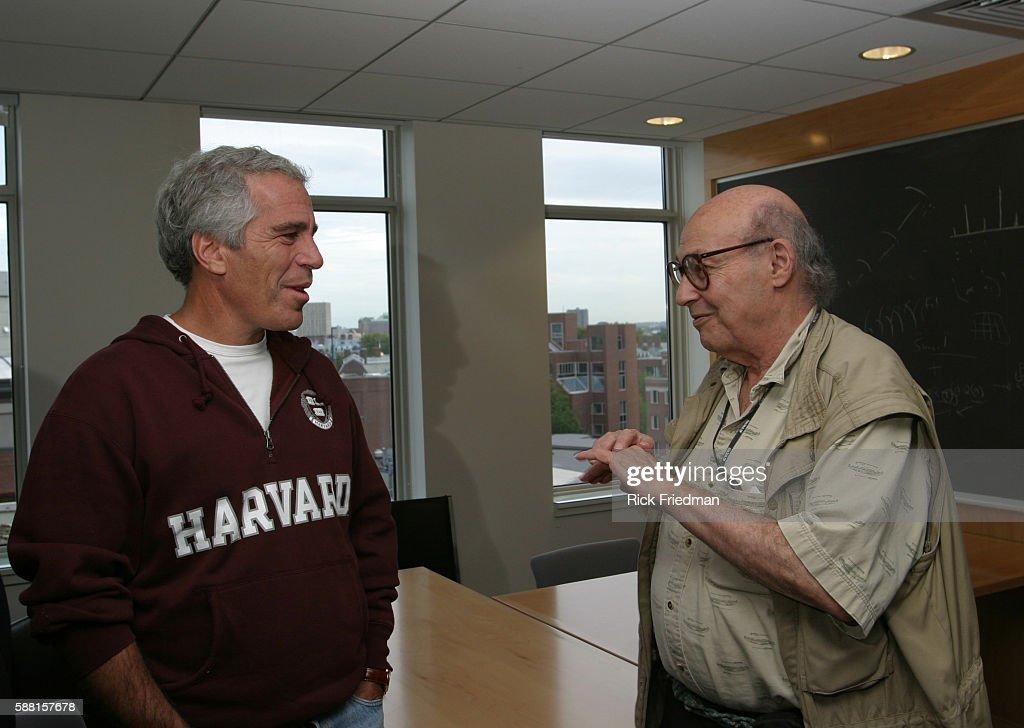 Jeffrey Epstein with Professor Marvin Minsky : News Photo