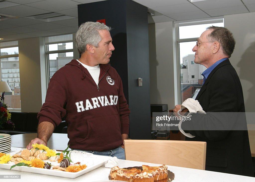 Jeffrey Epstein with Professor Alan Dershowitz : News Photo