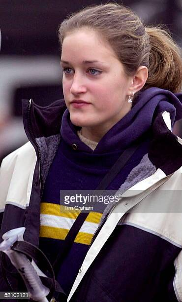 Friend Skiing With The Royal Party In Klosters Switzerland She Was Named By British Newspapers As Violet Von Westenholz Daughter Of Prince Charles's...