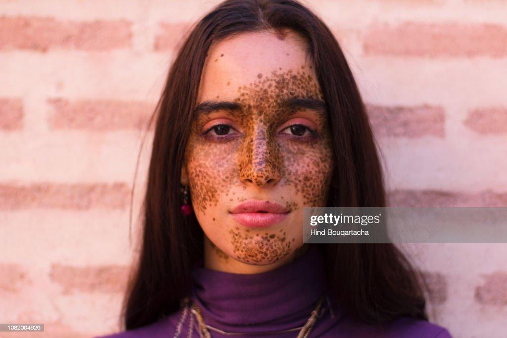 portrait of a young beautiful women : Stock Photo