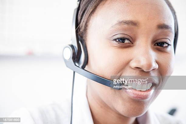 Animaux d'Afrique employé de centre d'appel.