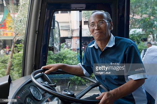 Friendly bus driver.