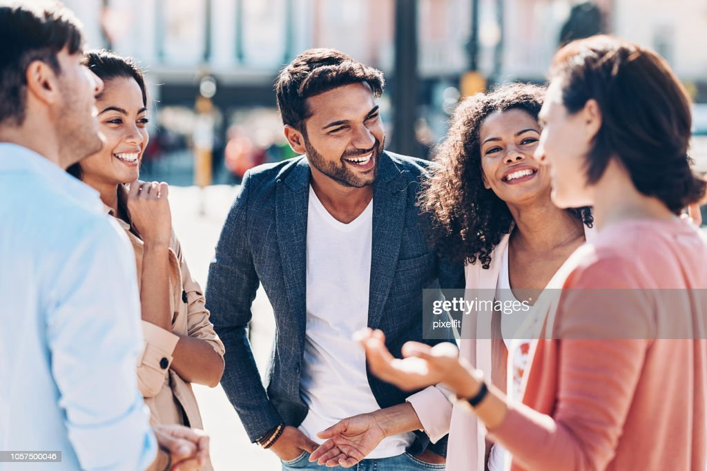 Friendly chat : Stock Photo