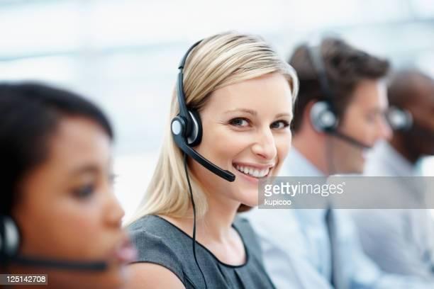 Friendly customer service operators
