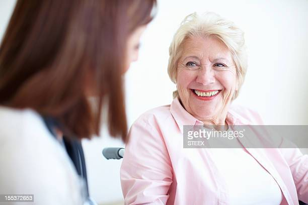 Friendly doctor and patient relations - Senior Health