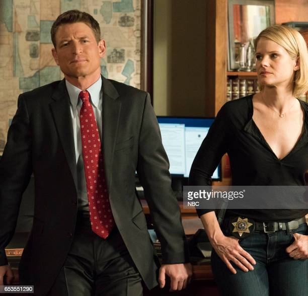JUSTICE Friendly Fire Episode 110 Pictured Philip Winchester as Peter Stone Joelle Carter as Laura Nagel