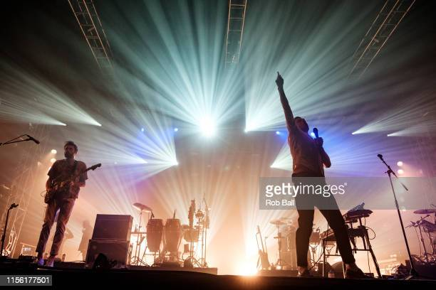 Friendly Fires perform onstage during Isle of Wight Festival 2019 at Seaclose Park on June 15 2019 in Newport Isle of Wight