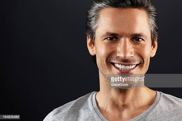 Friendly man smiling