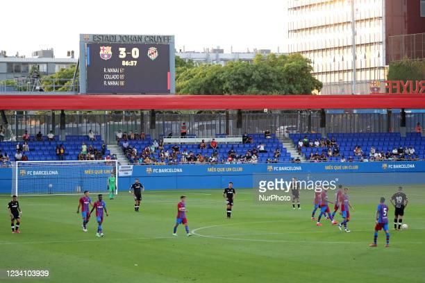Friendly match between FC Barcelona and Club Gimnastic de Tarragona, played at the Johan Cruyff Stadium on 21th July 2021, in Barcelona, Spain.