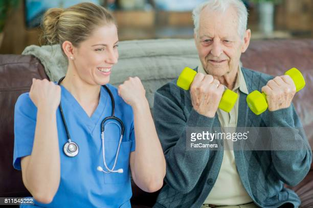 friendly nurse - hospice stock pictures, royalty-free photos & images