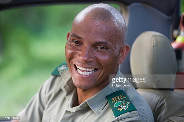 Friendly ranger during wildlife safari