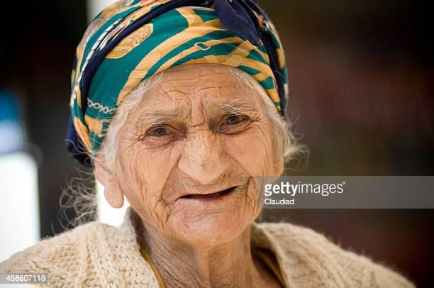 Friendly senior woman