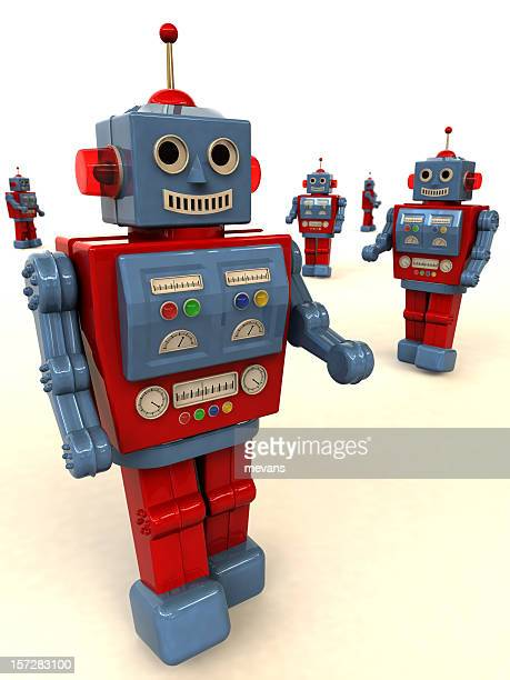 friendly toy robots - novelty item stock pictures, royalty-free photos & images