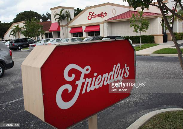 Friendly's Ice Cream Corp restaurant is seen on the day the company filed for bankruptcy on October 5 2011 in Delray Beach Florida The company...