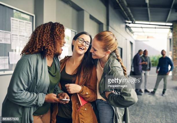 friends add the fun factor to college life - college application stock photos and pictures