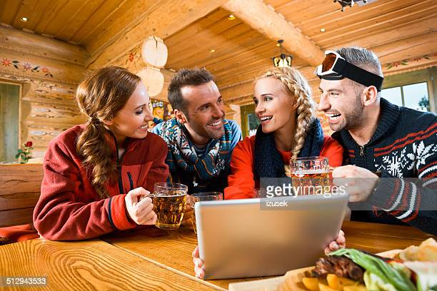 Friends after skiing