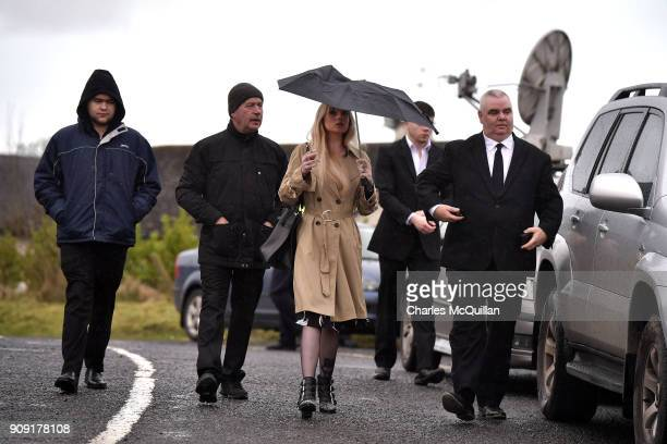 Friends and family attend the funeral of Dolores O'Riordan at St Ailbe's Church Ballybricken on January 23 2018 in Limerick Ireland The Cranberries...