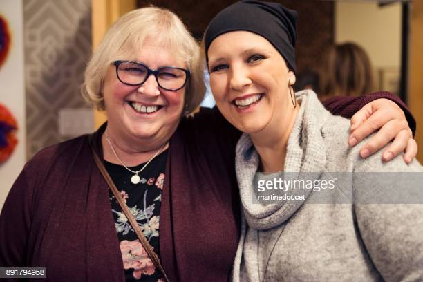 Friends and family celebration for cancer patient.
