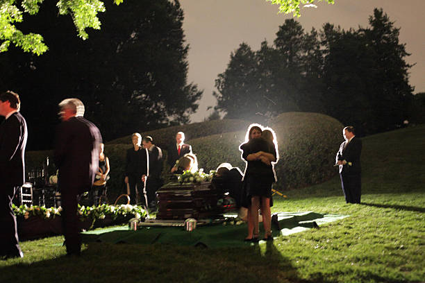 Senator Edward Kenedy Casket: Ted Kennedy Makes Final Trip To Washington For Burial At