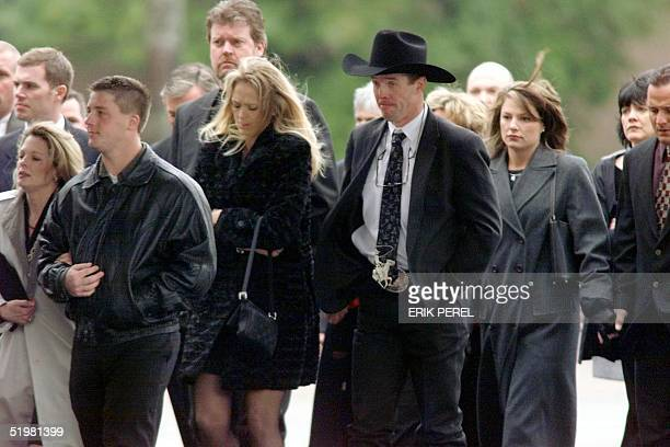 Friends and family of Dale Earnhardt Sr enter Calvary Church in Charlotte NC for Earnhardt's 22 February 2001 memorial service Earnhardt Sr was...
