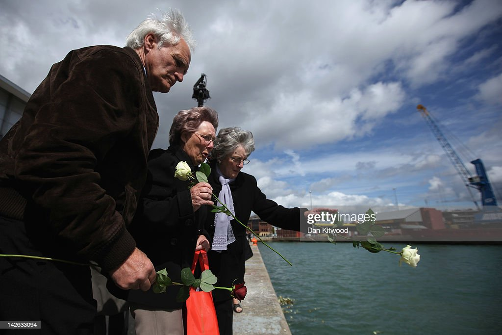 The Titanic Centenary Memorial Held At The Port Of Southampton : News Photo