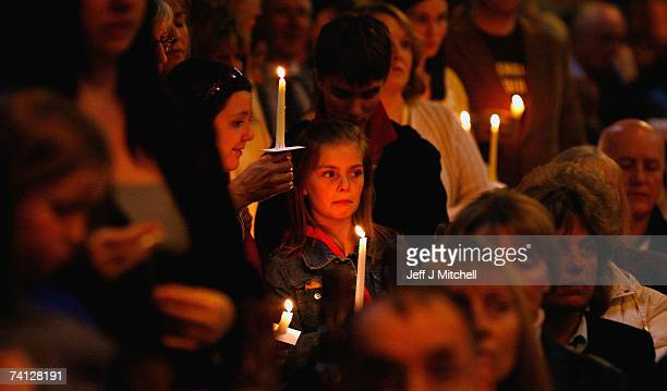 Friends and family of the parents of missing toddler Madeleine McCann hold a vigil and prayer service at St Andrews Roman Catholic Cathedral May 11...