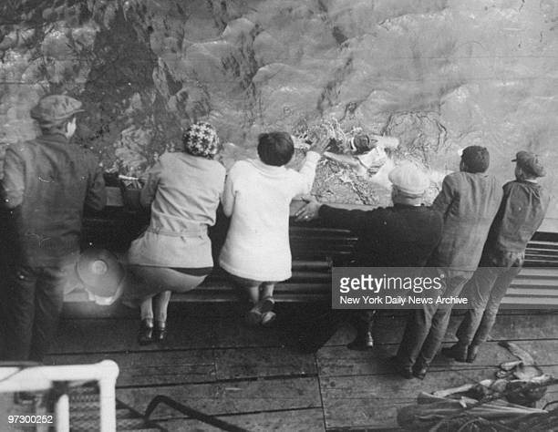 Friends and family watch Gertrude Ederle swim the English Channel from the tugboat Alsace