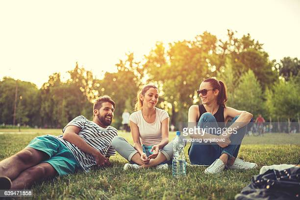 Friends and healthy lifestyle outdoors