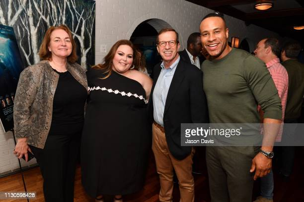 Friends and industry professionals attend the 'Breakthrough' VIP Reception with Producer DeVon Franklin and Actress Chrissy Metz at Table 3 on March...