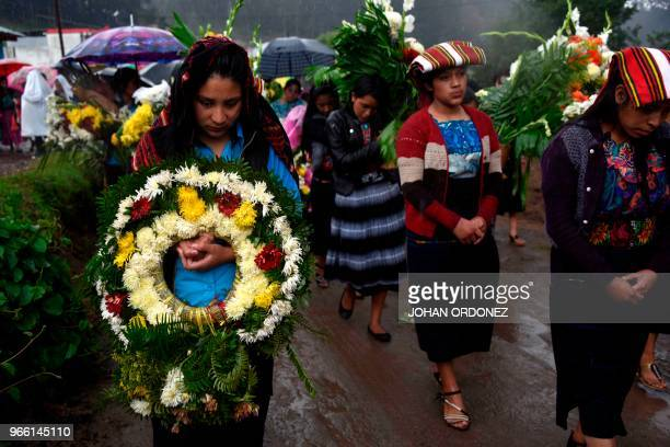 Friends and neighbours attend the funeral of Claudia Gomez a 19yearold Guatemalan woman who was allegedly shot and killed by a US border patrol agent...