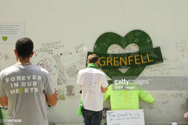 Friends and relatives of the victims paying their respects during the 3rd anniversary of the Grenfell fire Seventytwo people were killed in the blaze...